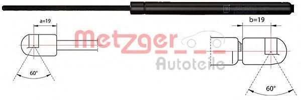 Газовая пружина, крышка багажник METZGER 2110483