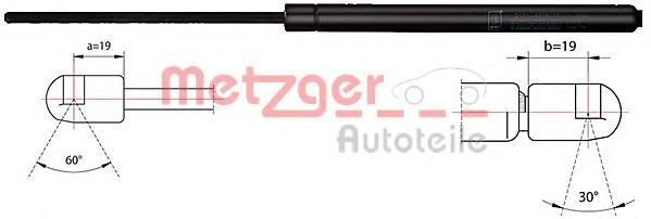 Газовая пружина, капот METZGER 2110420