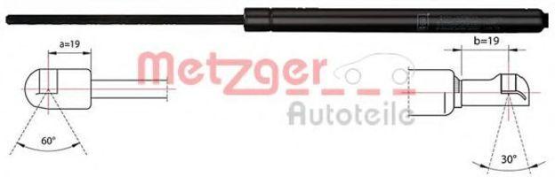 Газовая пружина, крышка багажник METZGER 2110423