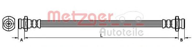 Шланг тормозной METZGER 4110469
