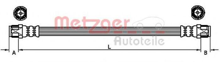 Тормозной шланг METZGER 4110224