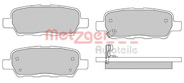 Комплект тормозных колодок, дисковый тормоз METZGER 1170079