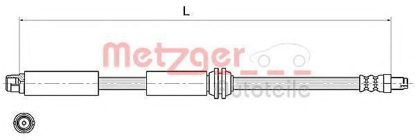 Тормозной шланг METZGER 4111367