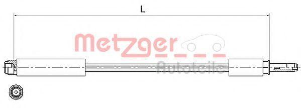 Тормозной шланг METZGER 4111368