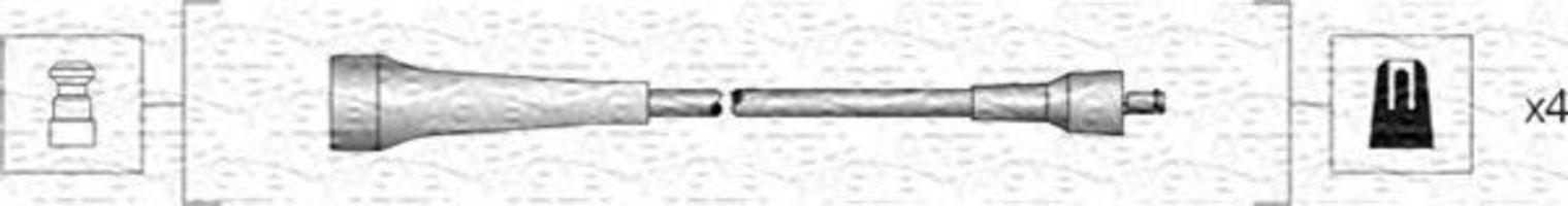 Провода высоковольтные комплект MAGNETI MARELLI 941318111263