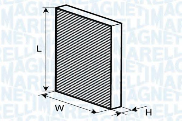 Фильтр, воздух во внутренном пространстве MAGNETI MARELLI 350203064080