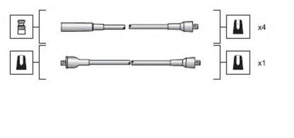 Комплект проводов зажигания MAGNETI MARELLI 941318111025