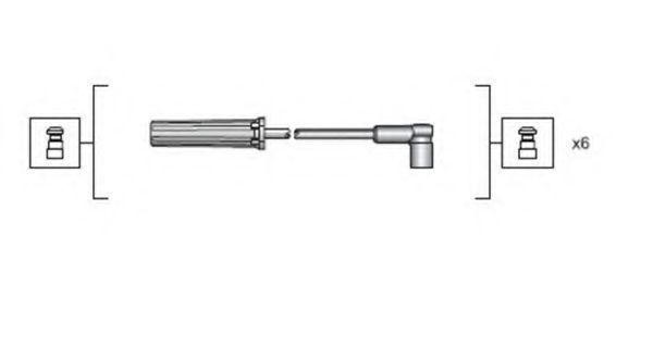 Комплект проводов зажигания MAGNETI MARELLI 941318111143
