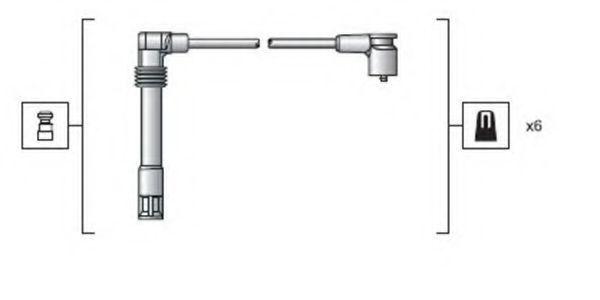 Провода высоковольтные комплект MAGNETI MARELLI 941318111162