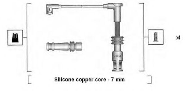 Провода высоковольтные комплект MAGNETI MARELLI 941045430528