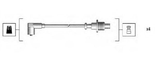 Провода высоковольтные комплект MAGNETI MARELLI 941135160703