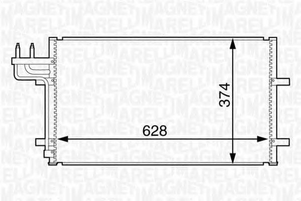 Конденсатор, кондиционер MAGNETI MARELLI 350203601000
