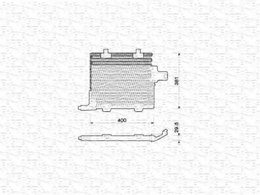 Конденсатор, кондиционер MAGNETI MARELLI 350203211000