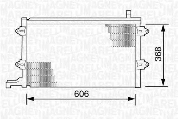 Конденсатор, кондиционер MAGNETI MARELLI 350203243000