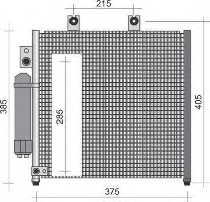 Конденсатор, кондиционер MAGNETI MARELLI 350203250000