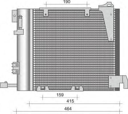 Конденсатор, кондиционер MAGNETI MARELLI 350203263000