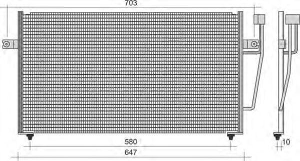 Конденсатор, кондиционер MAGNETI MARELLI 350203266000