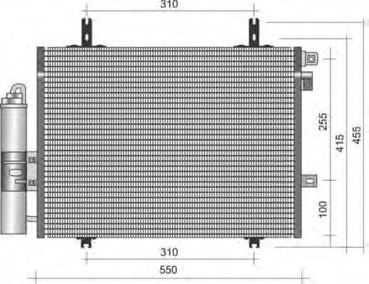Конденсатор, кондиционер MAGNETI MARELLI 350203338000