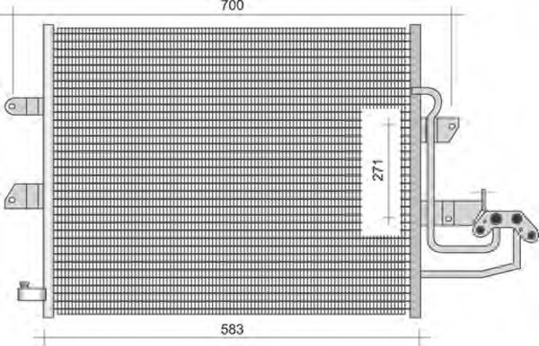 Конденсатор, кондиционер MAGNETI MARELLI 350203344000
