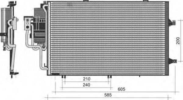 Конденсатор, кондиционер MAGNETI MARELLI 350203351000
