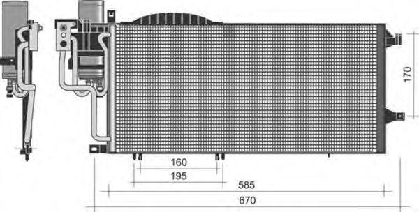 Конденсатор, кондиционер MAGNETI MARELLI 350203352000