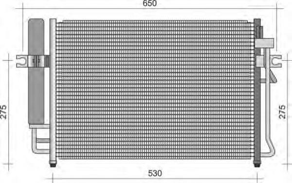 Конденсатор, кондиционер MAGNETI MARELLI 350203356000