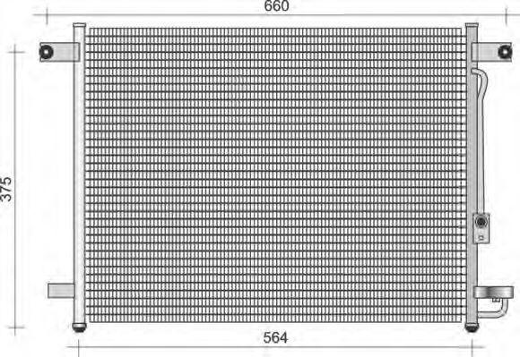 Конденсатор, кондиционер MAGNETI MARELLI 350203432000