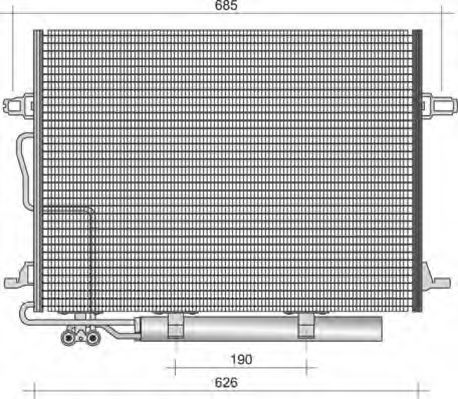 Конденсатор, кондиционер MAGNETI MARELLI 350203438000