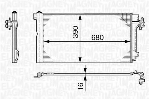 Конденсатор, кондиционер MAGNETI MARELLI 350203478000
