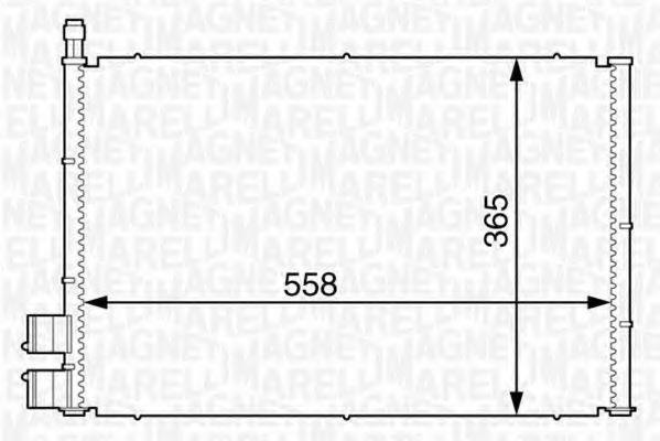 Конденсатор, кондиционер MAGNETI MARELLI 350203605000