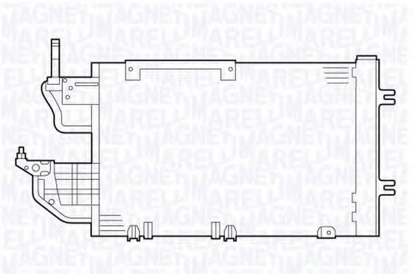 Конденсатор, кондиционер MAGNETI MARELLI 350203635000
