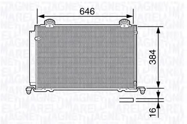 Конденсатор, кондиционер MAGNETI MARELLI 350203689000