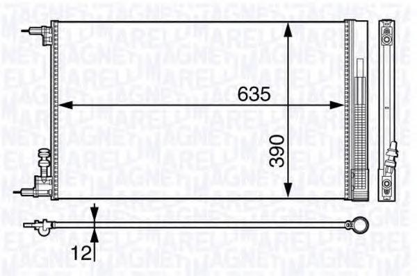 Конденсатор, кондиционер MAGNETI MARELLI 350203713000