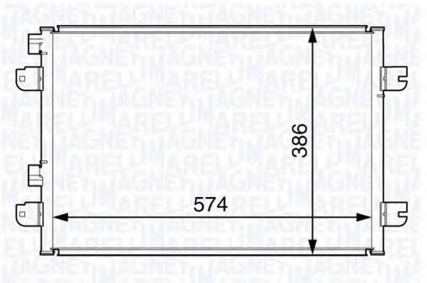 Конденсатор, кондиционер MAGNETI MARELLI 350203728000