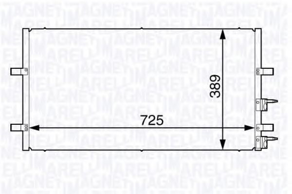Конденсатор, кондиционер MAGNETI MARELLI 350203730000