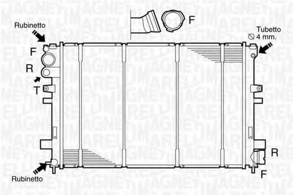 Радиатор, охлаждение двигателя MAGNETI MARELLI 350213102800