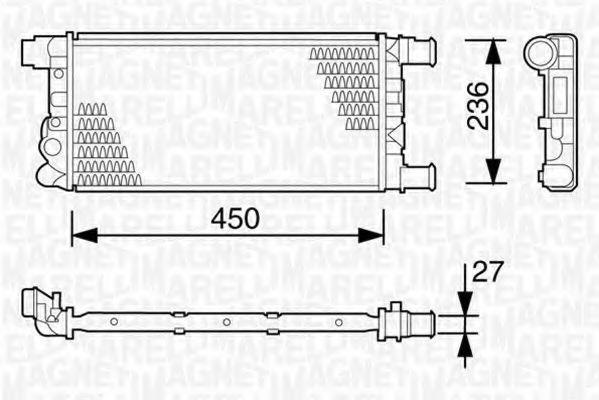 Радиатор охлаждения MAGNETI MARELLI 350 21 310 300 3