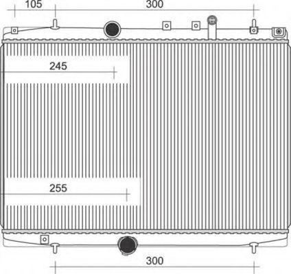 Радиатор, охлаждение двигателя MAGNETI MARELLI 350213108200