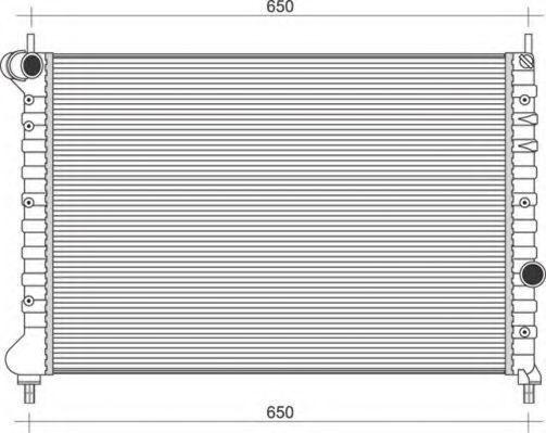 Радиатор, охлаждение двигателя MAGNETI MARELLI 350213108600