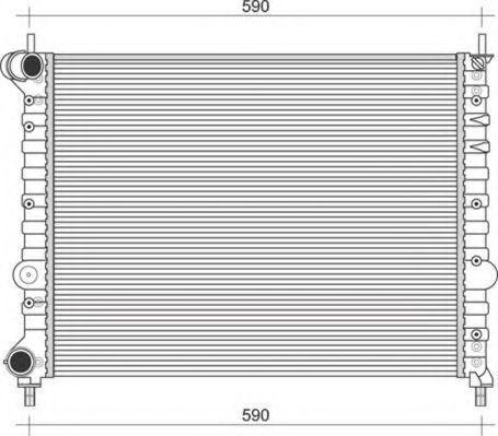 Радиатор, охлаждение двигателя MAGNETI MARELLI 350213108700