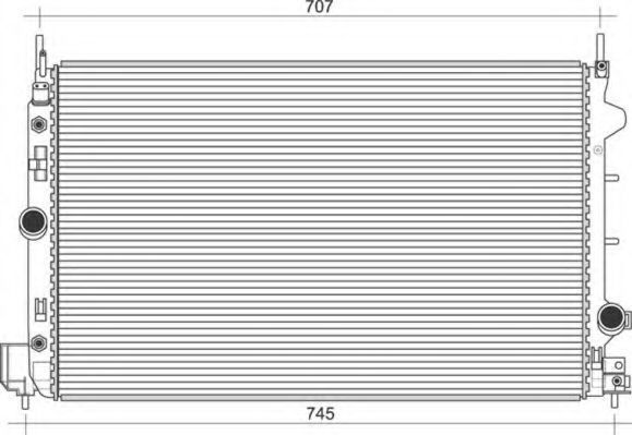 Радиатор, охлаждение двигателя MAGNETI MARELLI 350213108900