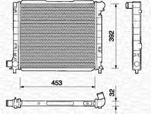 Радиатор, охлаждение двигателя MAGNETI MARELLI 350213109000