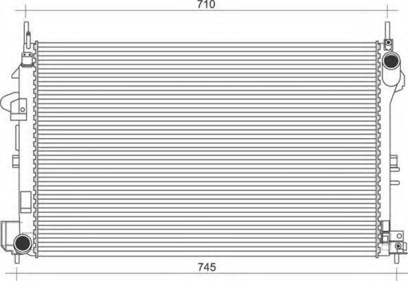 Радиатор, охлаждение двигателя MAGNETI MARELLI 350213112200
