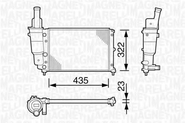 Радиатор охлаждения MAGNETI MARELLI 350213113003