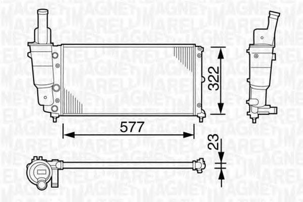 Радиатор охлаждения MAGNETI MARELLI 350213114003