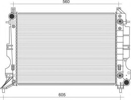 Радиатор, охлаждение двигателя MAGNETI MARELLI 350213114400