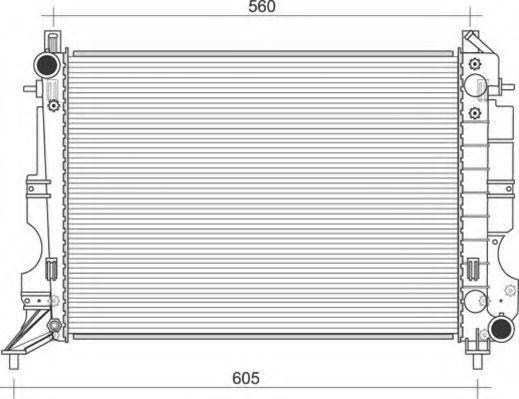 Радиатор, охлаждение двигателя MAGNETI MARELLI 350213114700