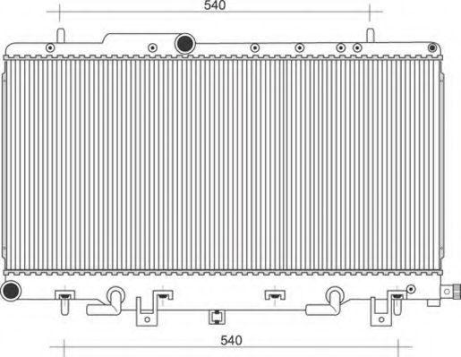 Радиатор, охлаждение двигателя MAGNETI MARELLI 350213115100