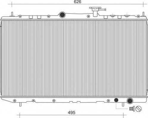 Радиатор, охлаждение двигателя MAGNETI MARELLI 350213116300