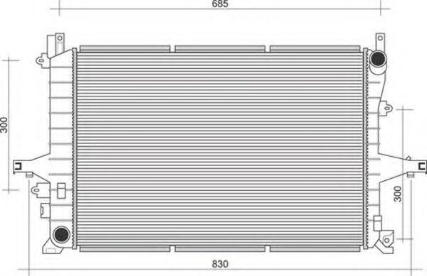 Радиатор, охлаждение двигателя MAGNETI MARELLI 350213117200